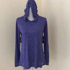 NWT! Nike women's medium blue pullover hoodie